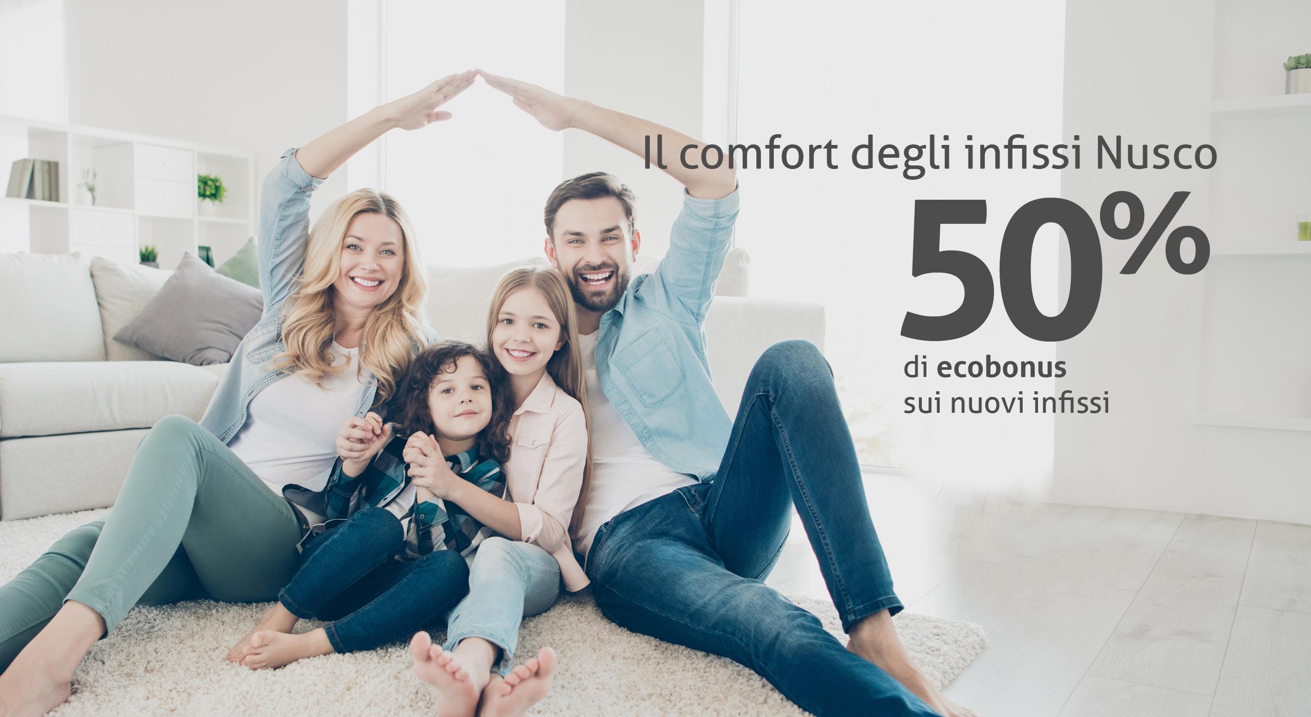 ECOBONUS 50%: INFISSI NUSCO A META' PREZZO
